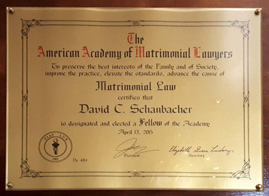 American Academy of Matrimonial Lawyers Award