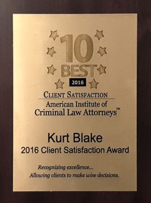 American Institute of Criminal Law Attorneys Award