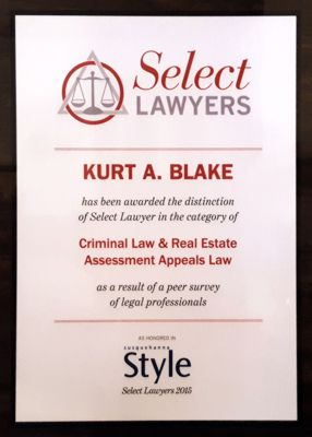 Select Lawyers Award