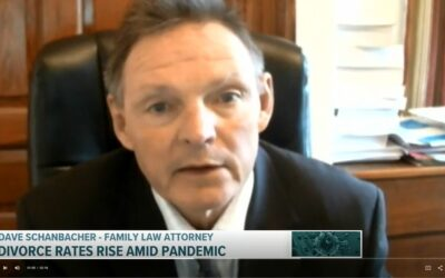 "Fox43 News features Dave Schanbacher on ""Divorce rates up amid pandemic."""